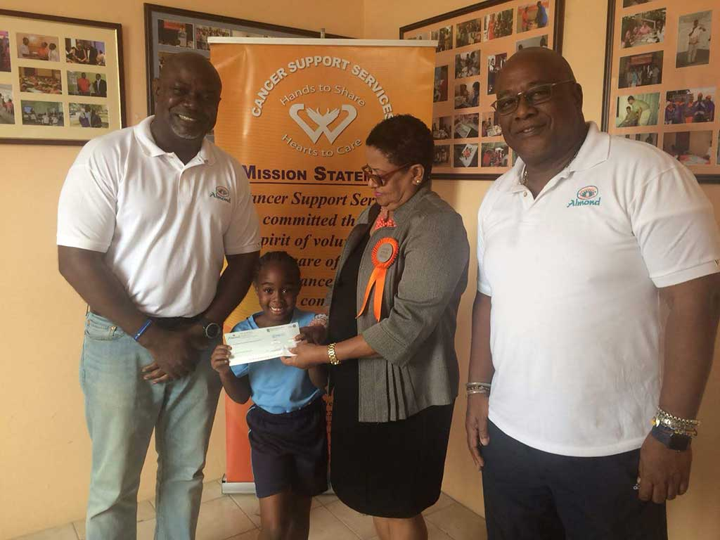 Almond Beach Resort Makes a Memorial Donation to CSS